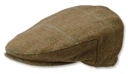 Wool Tweed Driving Cap